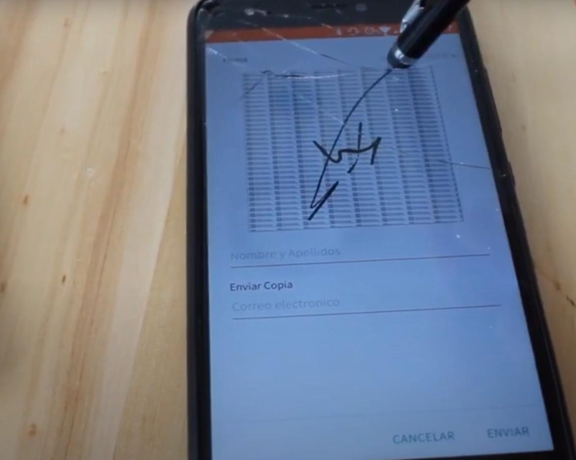 firma digital en parte de trabajo u órdenes de trabajo en movil o app android e ios