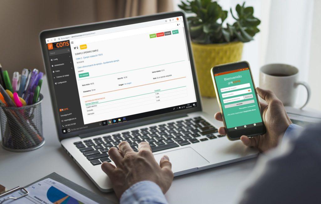 Registro de jornada laboral con app digital parte de trabajo